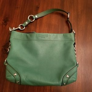 Coach Green Leather Carly Handbag